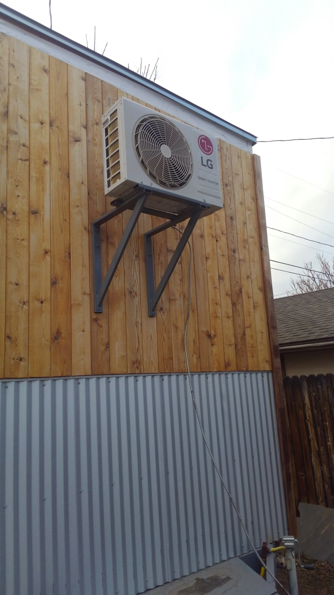 Mini-split Heater A/C unit on custom mount