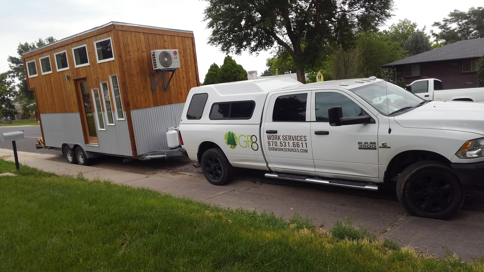 Our tiny home is ready to tow to your new home. :)